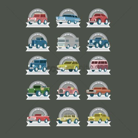 Old fashioned : Vintage car labels