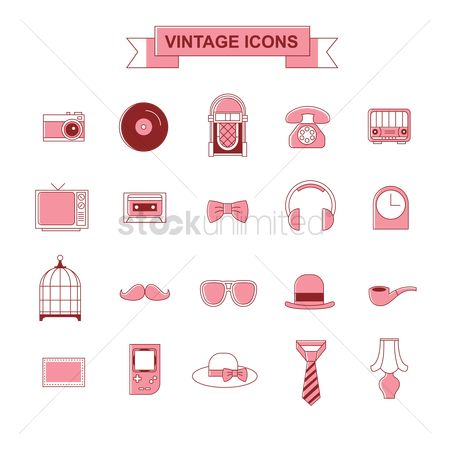 Old fashioned : Vintage icons collection