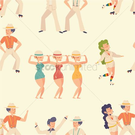 Dancing : Vintage men and women