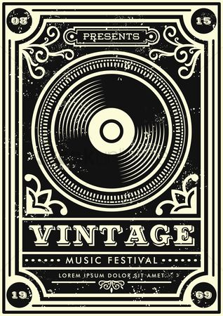 Borders : Vintage music festival design