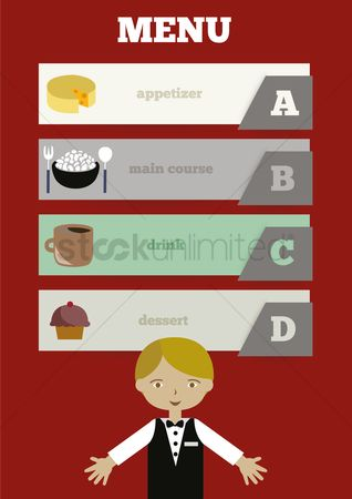 Main : Waiter infographic
