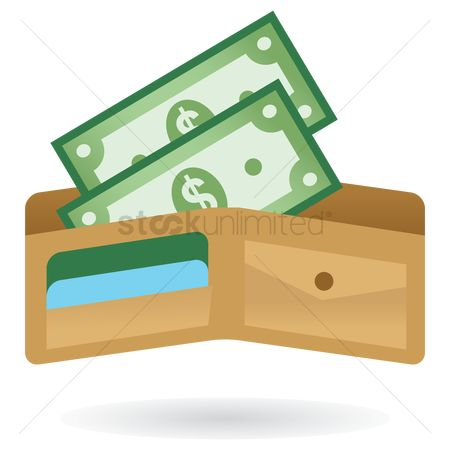 Banking : Wallet with money