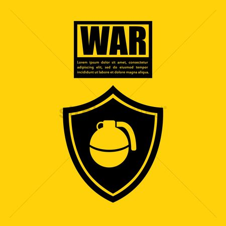 Combats : War concept with bomb