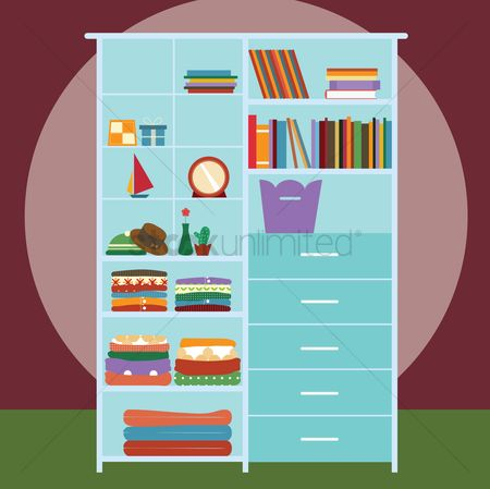 Interior background : Wardrobe with shelf