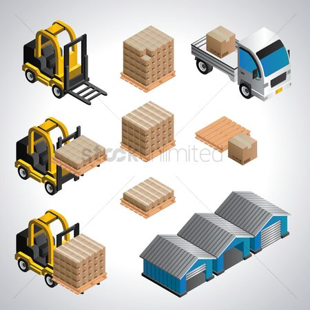 Racks : Warehouse equipment set