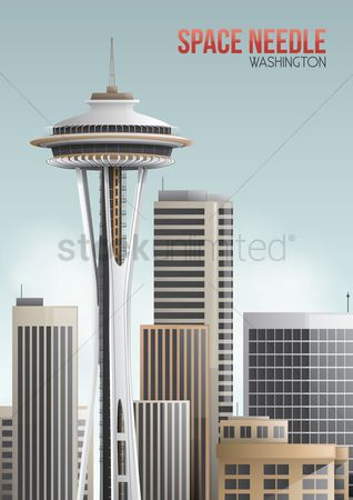 State : Washington space needle poster