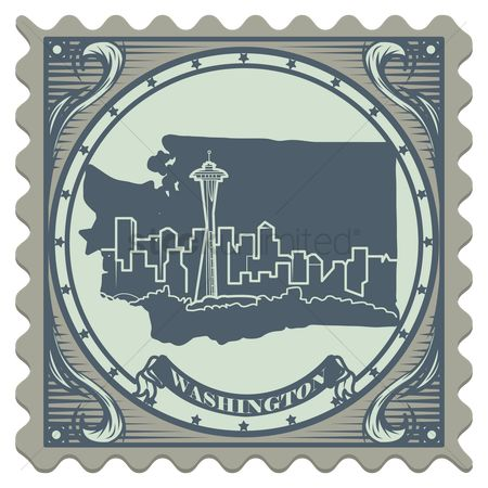 Space needle : Washington state postage stamp