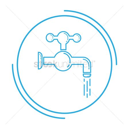 Faucets : Water tap with droplet