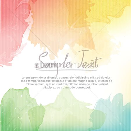 Graphic : Watercolor background design