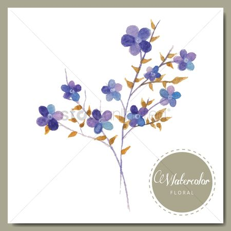 Invitations : Watercolor floral
