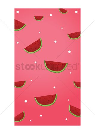 Watermelon slice : Watermelon mobile interface wallpaper