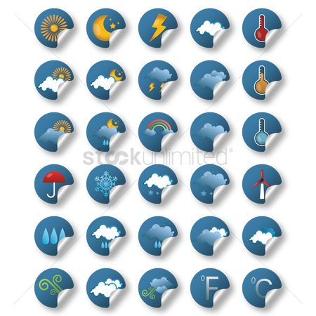 Temperatures : Weather icon collection