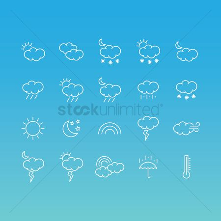 Temperatures : Weather icons set