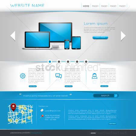 Electronic : Website template