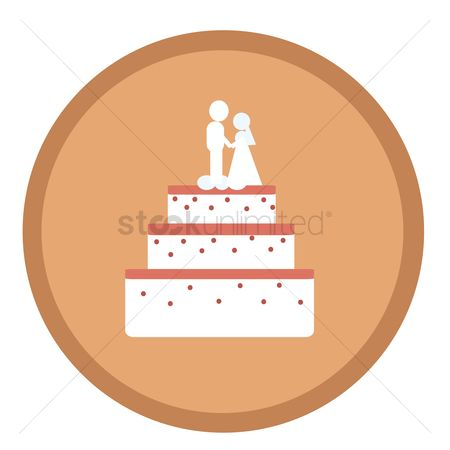 Poster : Wedding cake icon