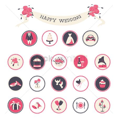 Gifts : Wedding icons