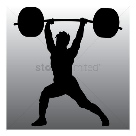 Athletes : Weightlifter in action