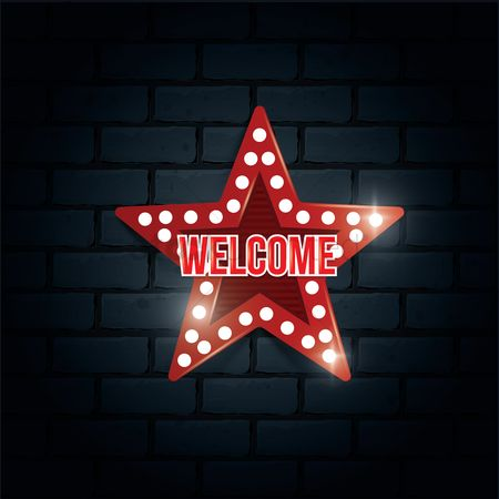 United states : Welcome sign