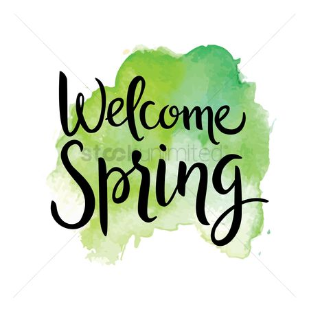 Vectors : Welcome spring design