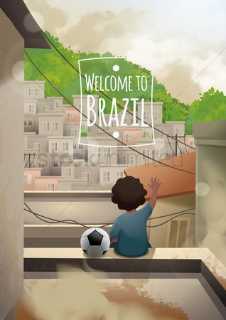 Soccer : Welcome to brazil poster