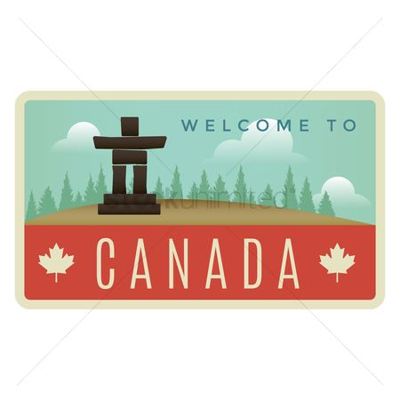Sculpture : Welcome to canada label design