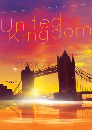 Monuments : Welcome to united kingdom poster