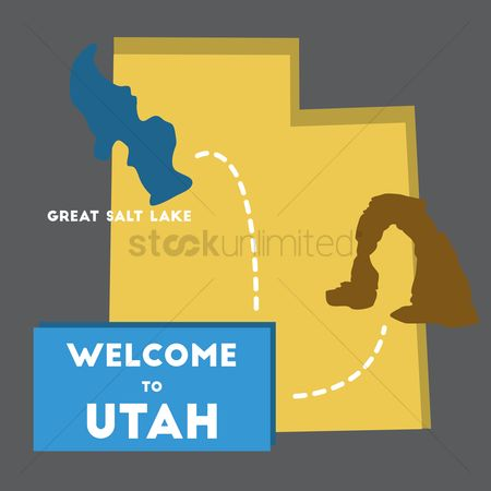Utah map : Welcome to utah state