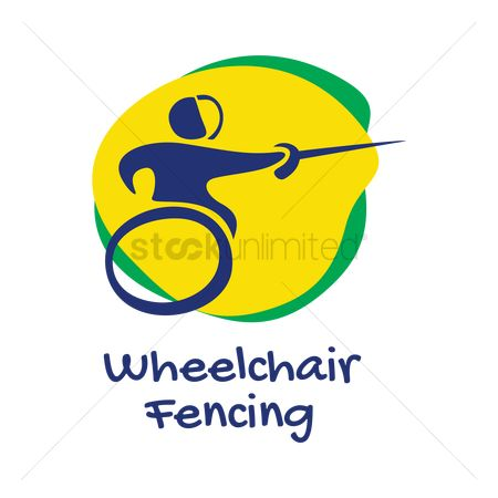 Wheelchair : Wheelchair fencing icon