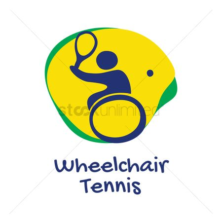 Wheelchair : Wheelchair tennis icon