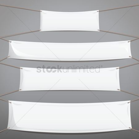 Cloth : White banner collection