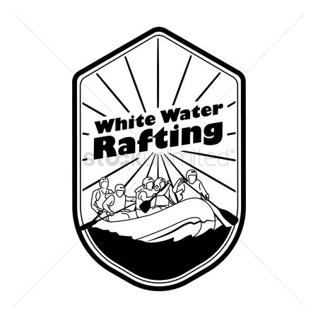 Paddle : White water rafting label