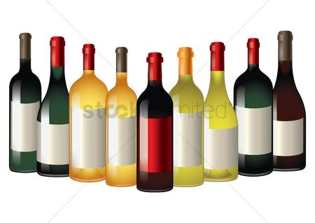Liquor : Wine bottles