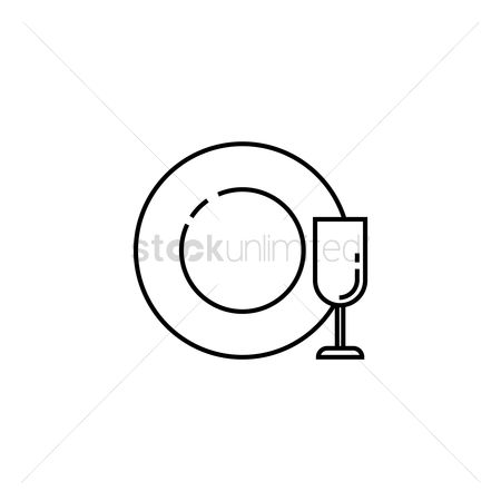 Servings : Wine glass and plate