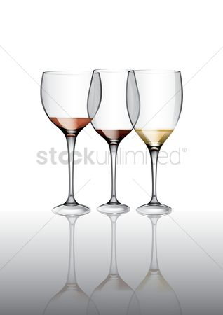 Alcohols : Wine glass set