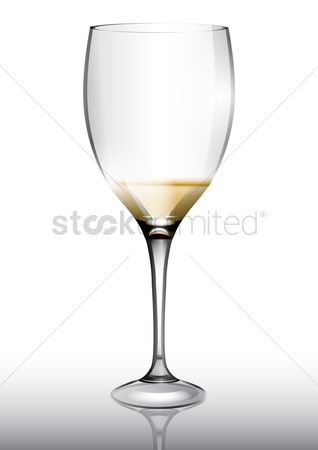 Liquor : Wine glass