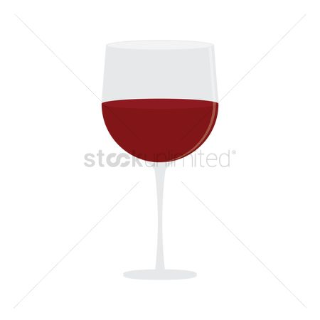 Red wines : Wine glass