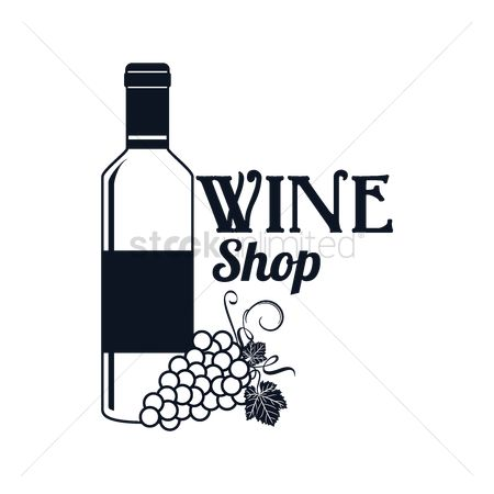 Liquor : Wine shop label