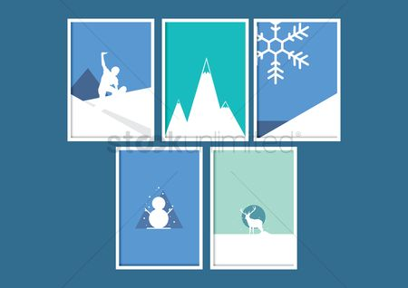 Hills : Winter icons
