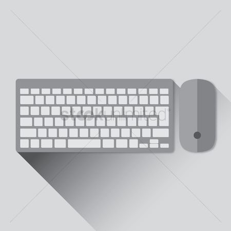 Technology : Wireless keyboard and mouse