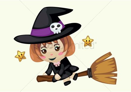 Broom : Witch on a broom