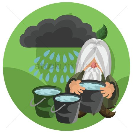 Background : Wizard storing rain water
