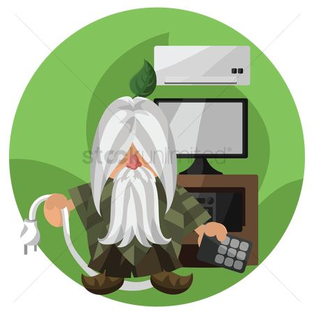 Background : Wizard with electronic appliances