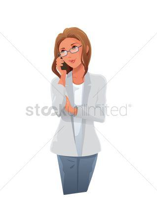 Interact : Woman busy talking on the phone