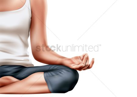 Lifestyle : Woman doing yoga