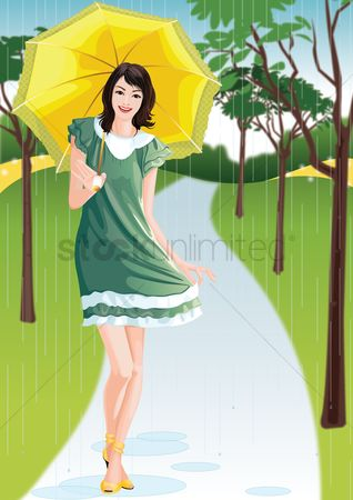 Umbrella : Woman holding an umbrella