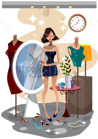 Cosmetic : Woman in a dressing room