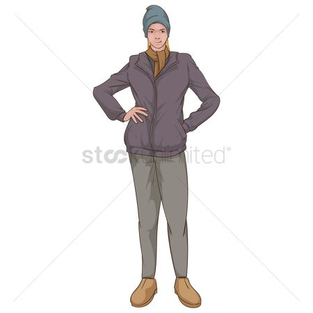 Pullover : Woman in warm clothing