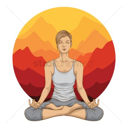 Activities : Woman practicing yoga pose