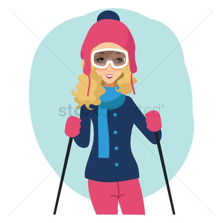 Pullover : Woman skier