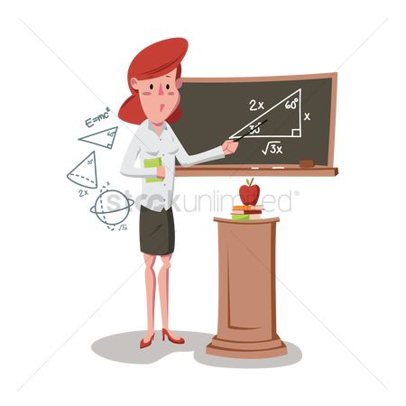 Teaching : Woman teaching mathematics in a class